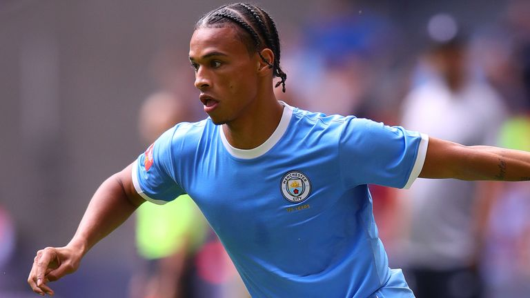 Leroy Sane suffered the injury in the Community Shield