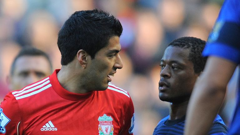 Liverpool's Luis Suarez used racist language against Manchester United's Patrice Evra during a Premier League encounter at Anfield in 2011