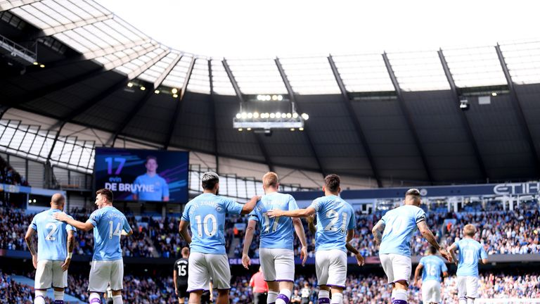 The Premier League champions made the perfect start through De Bruyne