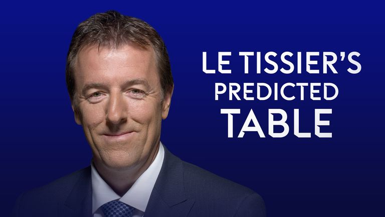 Le Tissier predicted table