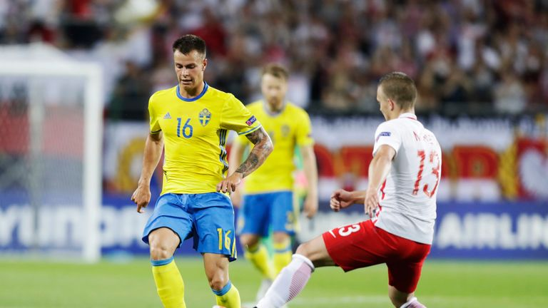 Hallberg has four caps and one goal for Sweden U21s