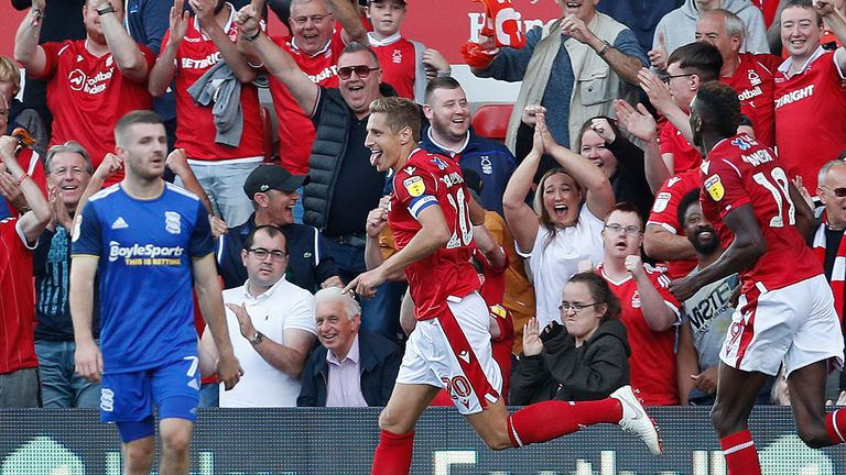 Nottingham Forest 3-0 Birmingham: Joe Lolley stars as home side cruise to victory
