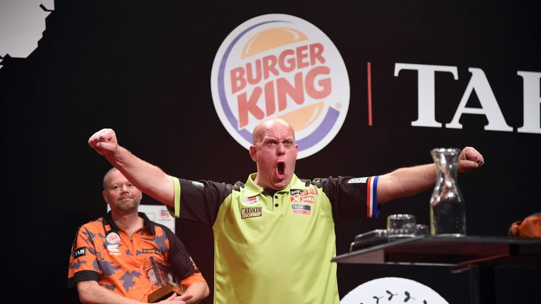 Van Gerwen triumphed with a dominant display in the final