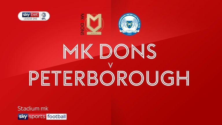 MK Dons v Peterborough