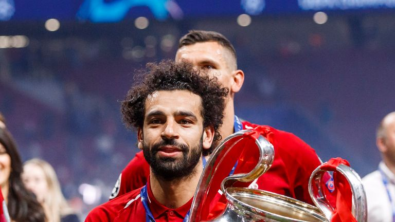 Mo Salah scored from the penalty spot in Liverpool's 2-0 win over Tottenham in last season's Champions League final