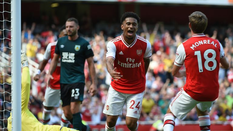 Reiss Nelson had a goal disallowed in Arsenal's 2-1 win over Burnley