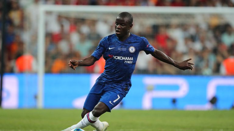 N'Golo Kante started for the first time since returning from injury in Chelsea's Super Cup defeat to Liverpool on penalties