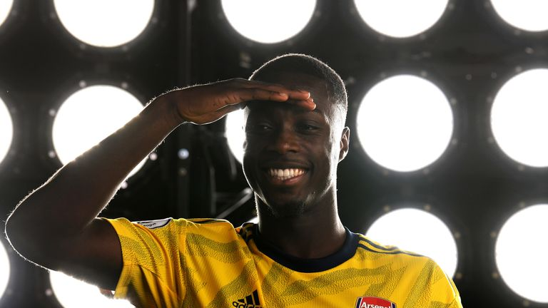 Nicolas Pepe arrived from Lille for £72m, making him Arsenal's new record signing