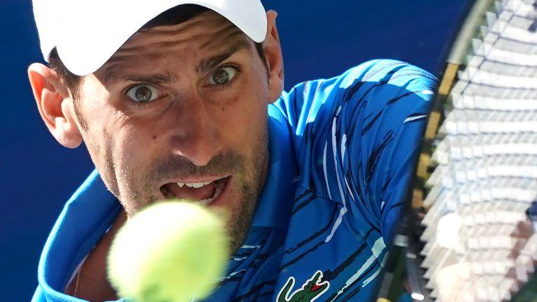 Novak Djokovic made short work of Spain's Roberto CarballesBaena