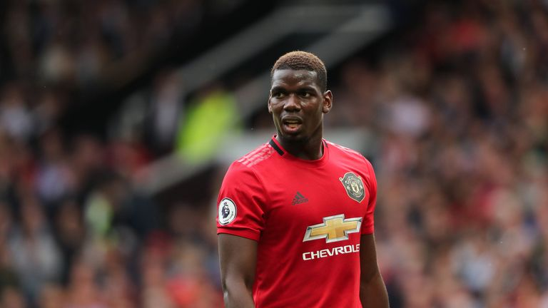 Paul Pogba started Manchester United's 4-0 win over Chelsea on Sunday
