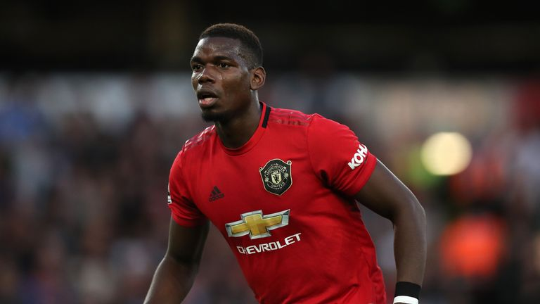 Paul Pogba during the Premier League match between Wolverhampton Wanderers and Manchester United