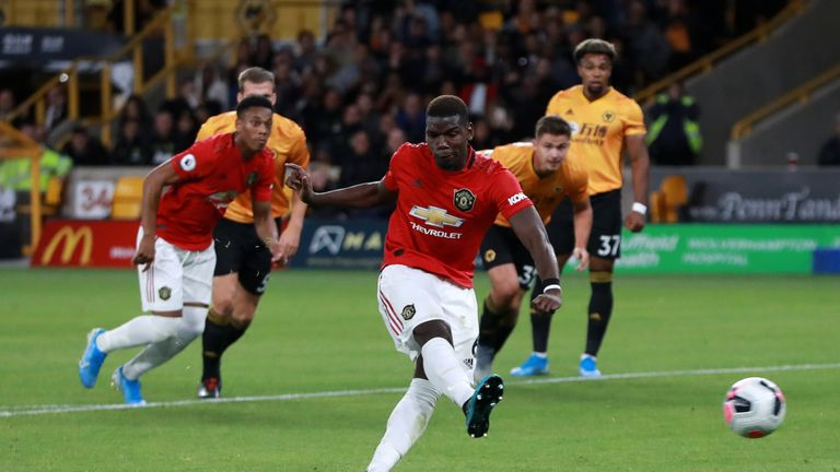 Paul Pogba's spot-kick was saved by Rui Patricio, with the game ending up in a draw