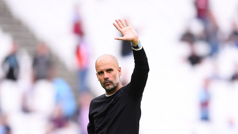 Pep Guardiola Man City v West Ham