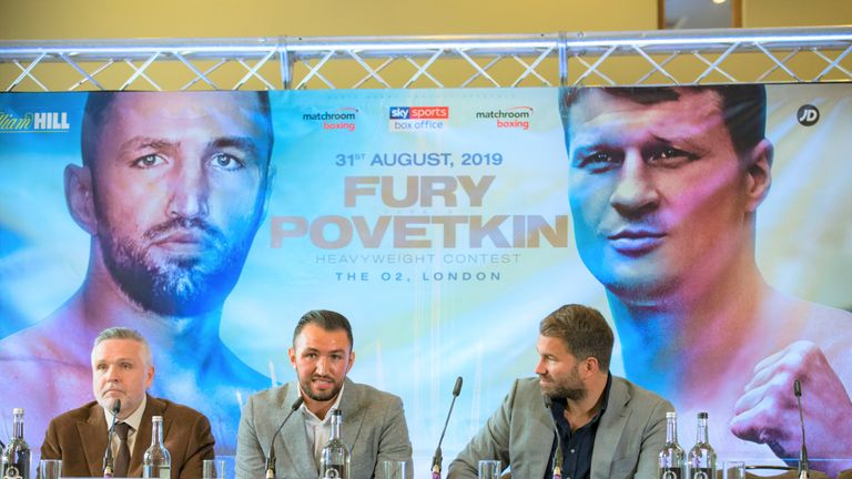 Peter Fury is preparing Hughie Fury to fight Alexander Povetkin on Lomachenko-Campbell bill