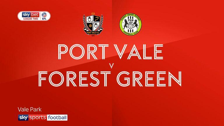 Port Vale v Forest Green