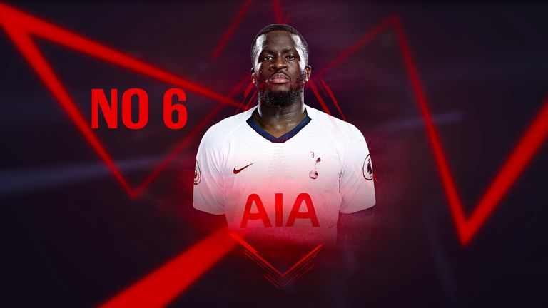 Tottenham midfielder Tanguy Ndombele kept his place among the top 10