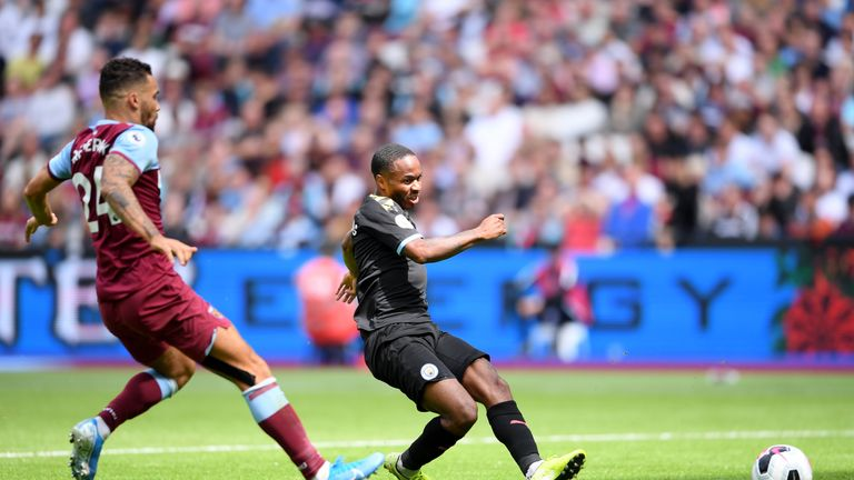 Sterling scored a hat-trick for  City