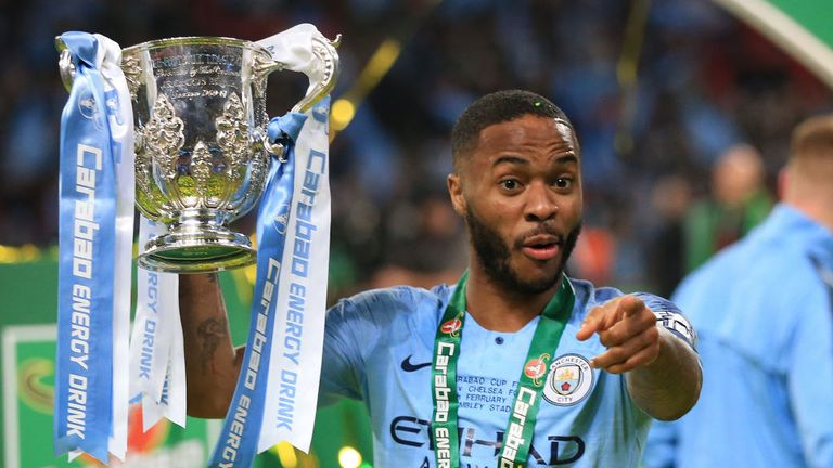 Raheem Sterling scored the winning penalty as Manchester City retained the Carabao Cup earlier this year
