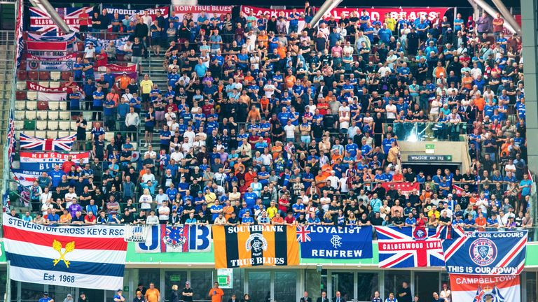 Rangers fans in Poland for the first leg against Legia last week