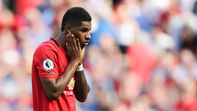 Manchester United Striker Marcus Rashford Suffers Racist Abuse On Twitter After Crystal Palace Defeat Football News Sky Sports