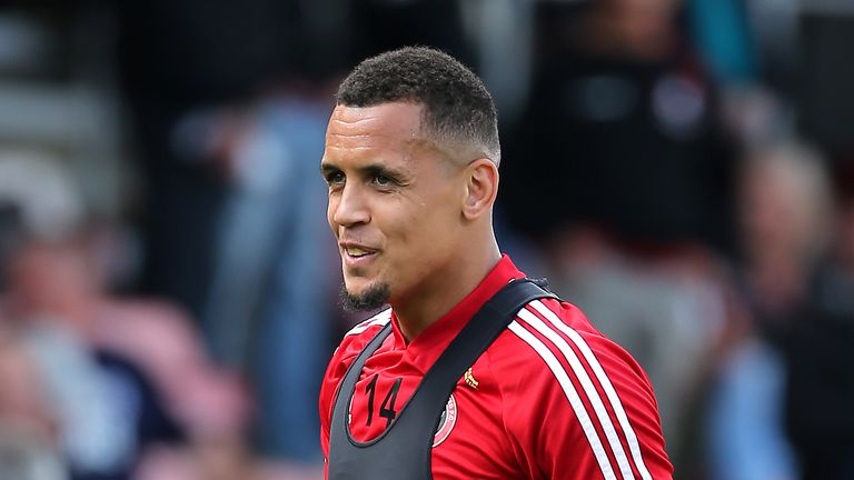 Sheffield United's Ravel Morrison warming up before the Premier League match against Bournemouth