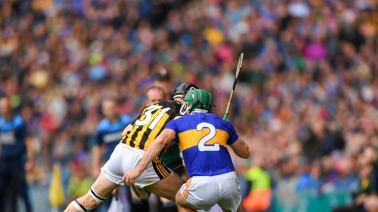 Hogan was given his marching orders for a high challenge on Cathal Barrett