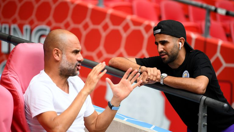 Pep Guardiola was unable to use Mahrez in the Community Shield