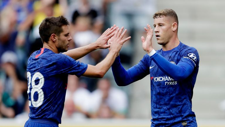 Ross Barkley scored from the spot to rescue a draw for Chelsea