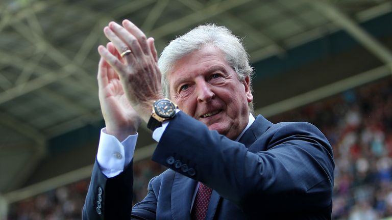 Roy Hodgson of Crystal Palace applauds fans after the Premier League match between Crystal Palace and Everton FC at Selhurst Park on August 10, 2019 in London, United Kingdom.