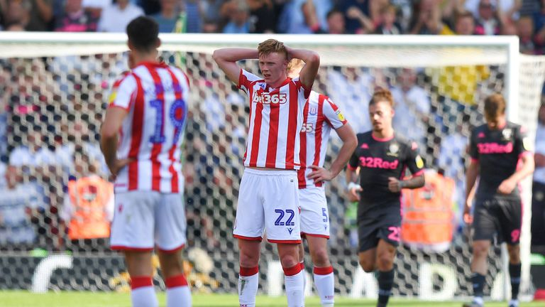 Nathan Jones' Stoke side were thrashed by Leeds