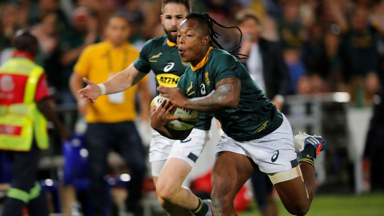 South Africa 24-18 Argentina: S'busiso Nkosi scores two tries to light up Pretoria