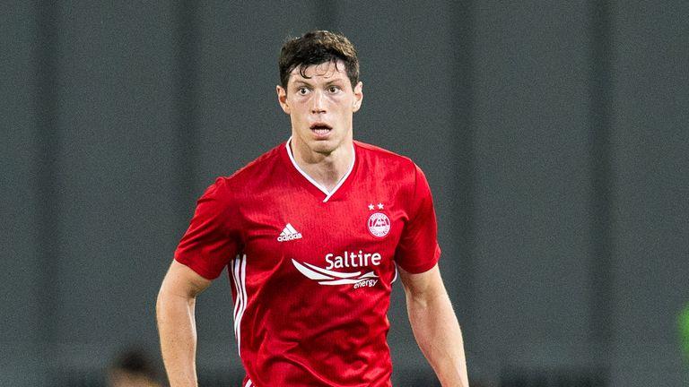 Scott McKenna in action for Aberdeen in the Europa League