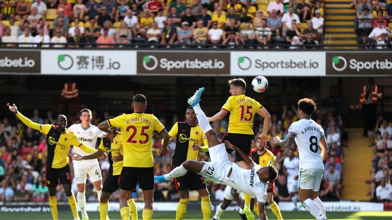 Sebastien Haller makes it 3-1 to West Ham at Vicarage Road