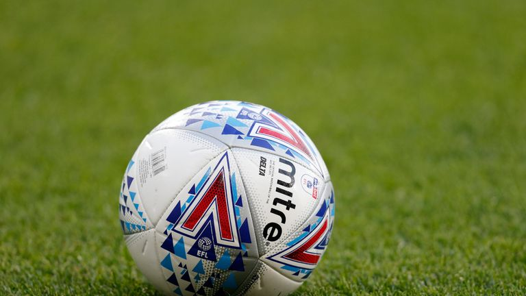A mitre delta match ball during the Sky Bet Championship match between Huddersfield Town and Derby County