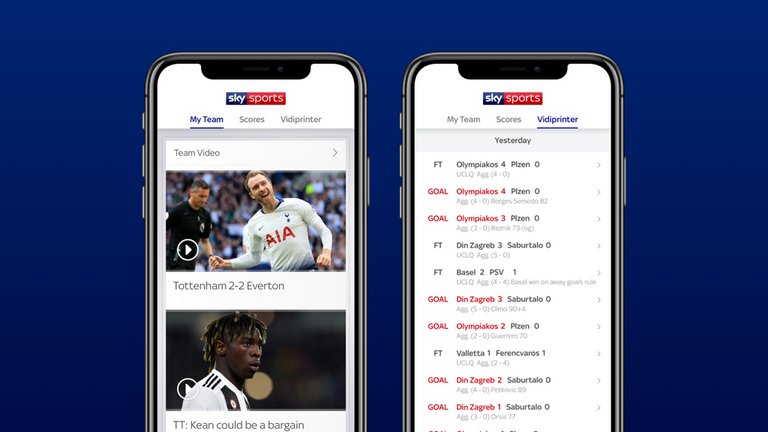 Download the Football Score Centre app for 2019/20