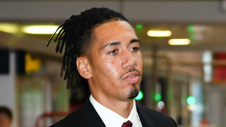 Chris Smalling will spend the remainder of the season at Roma