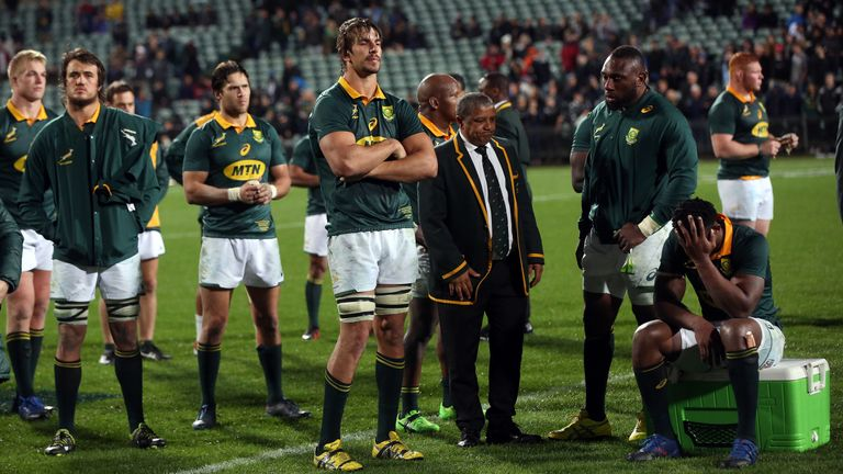 South Africa were left reeling after a 57-0 loss to the All Blacks in 2017
