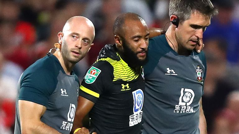 Nathan Redmond was injured during Southampton's Carabao Cup win over Fulham