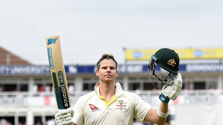 Steve Smith scored a hundred in both innings of the first Test
