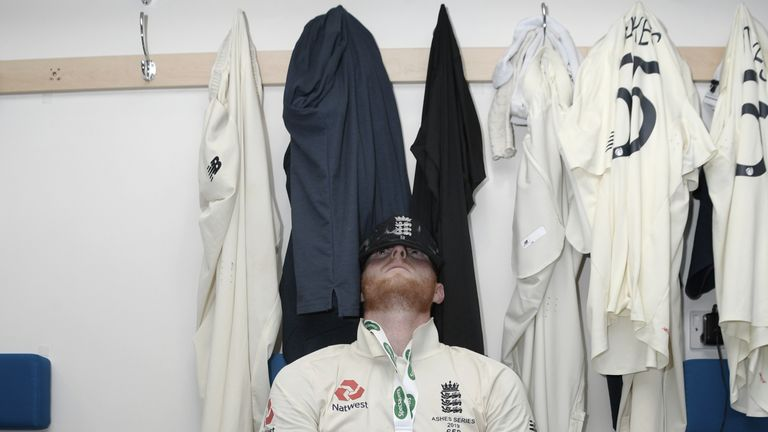Stokes takes a moment to reflect after his series-saving innings at Headingley