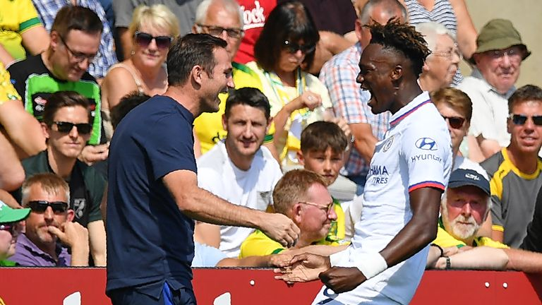 Chelsea manager Frank Lampard delighted after Tammy Abraham double