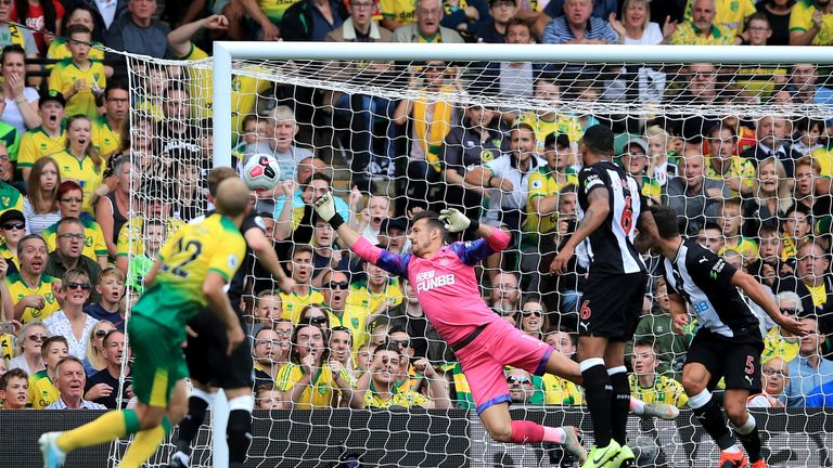 Teemu Pukki gives Norwich the lead vs Newcastle