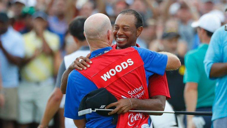 Woods finished two strokes clear of Billy Horschel in Atlanta