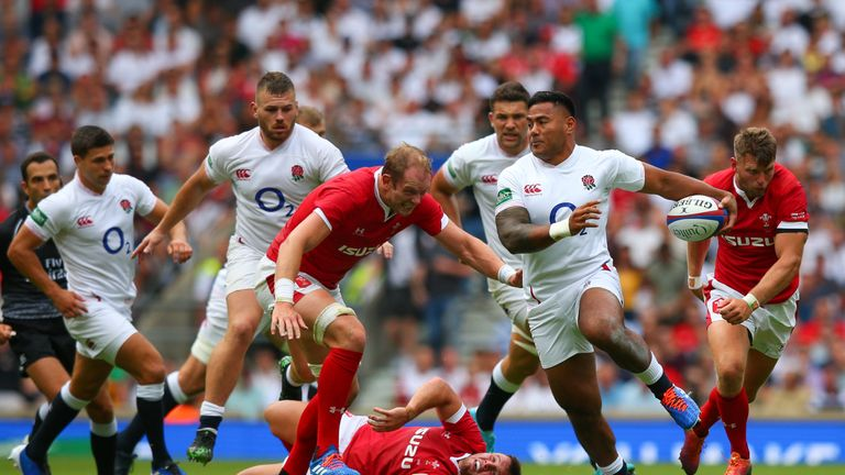 Tuilagi makes a break during England's win over Wales at Twickenham