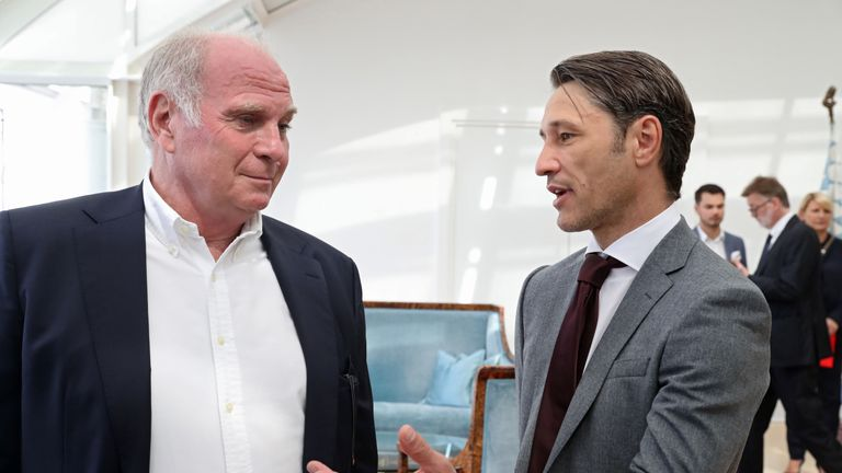 Bayern Munich president Uli Hoeness (left) has hit back at claims Neuer could be dropped