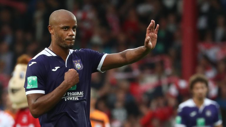 Vincent Kompany has played in all four of Anderlecht's league games so far this season