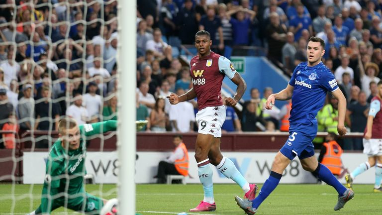 Wesley strokes in the opening goal after 21 minutes at Villa Park