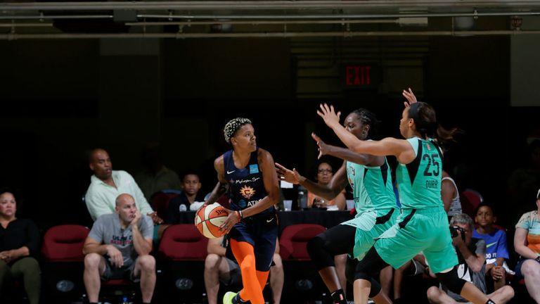 New York Liberty v Connecticut Sun in the WNBA