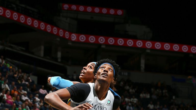 Sylvia Fowles boxes out against the Chicago Sky