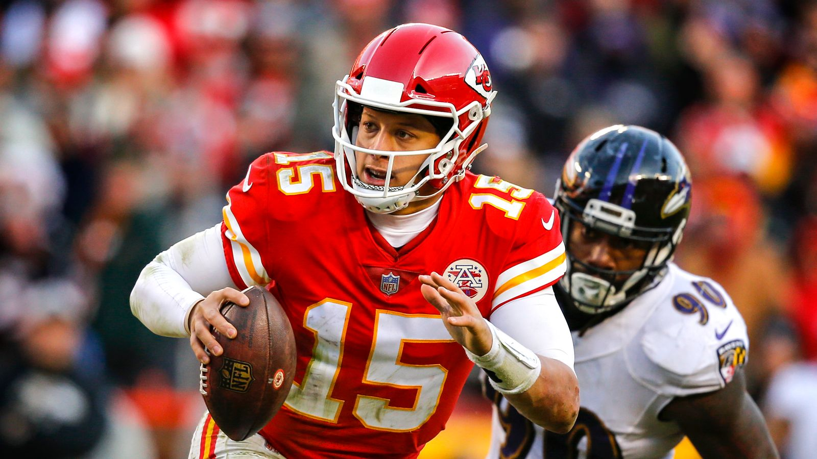 Lamar Jackson and Patrick Mahomes face off in Week Three of NFL on Sky Sports